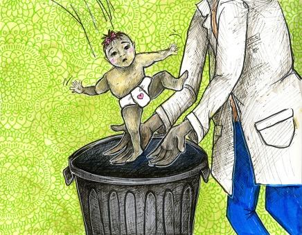 le jour où à ma naissance je suis tombé dans la poubelle